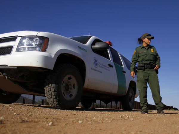 A U.S. Border Patrol agent patrols along the U.S.-Mexico border in Naco, Ariz., in September. On Monday, the U.S. Supreme Court agreed to hear a legal challenge to Arizona's tough new law on illegal immigration.