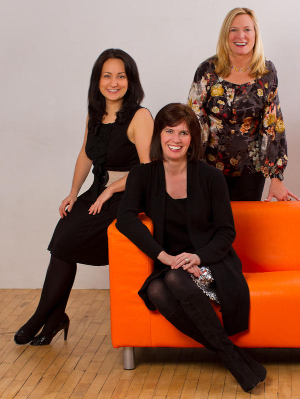 The founders of startup accelerator Women Innovate Mobile (clockwise from top right: Deborah Jackson, Kelly Hoey and Veronika Sonsev) aim to boost the profile of tech companies founded by women.