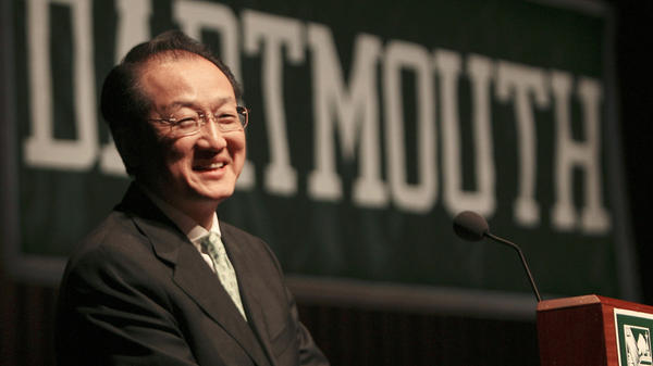 Dr. Jim Yong Kim is introduced as the new president of Dartmouth College in Hanover, N.H., in 2009.