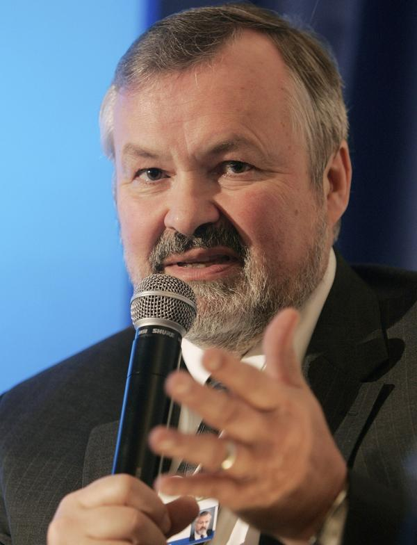 George Halvorson, chairman and CEO of Kaiser Permanente, speaks during a session at the World Economic Forum in Davos, Switzerland, in 2009.