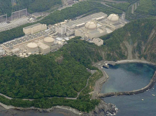 The Japanese government may restart one of the two nuclear reactors at the Oi power plant (shown here June 15) in Fukui prefecture as early as July 1. Public concern forced the shutdown of the country's 50 nuclear reactors after the Fukushima disaster last year.