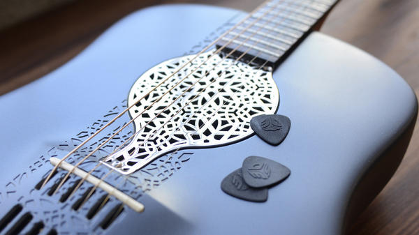 Industrial engineer Scott Summit made this guitar out of nylon powder.