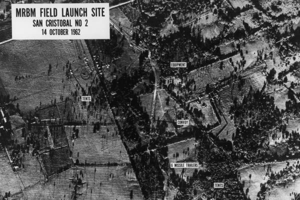 Field Launch Site San Cristobal No. 2, Oct. 14, 1962. This surveillance photograph was used in Secretary of Defense Robert McNamara's special briefing on Feb. 6, 1963.