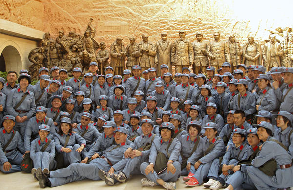 "The former revolutionary stronghold of China's Mao Zedong has become a tourist spot exalting the communist cause. This ""Red Army"" is actually a team of top Chinese salespeople from Amway, the U.S.-based direct sales company. They have earned a three-day trip to Yan'an, the ""Revolutionary Holy Land,"" as a reward for hitting sales targets."