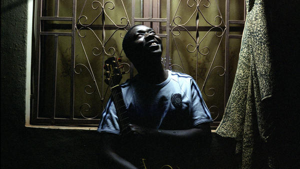 Baba Salah at his home in Bamako, Mali. On his new album, <em>Dangay</em>, he calls attention to what he describes as human-rights violations in the north.