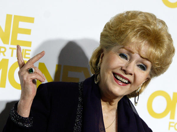Debbie Reynolds, shown here in 2012, starred in <em>Singin' In The Rain </em>and <em>The Unsinkable Molly Brown</em>.