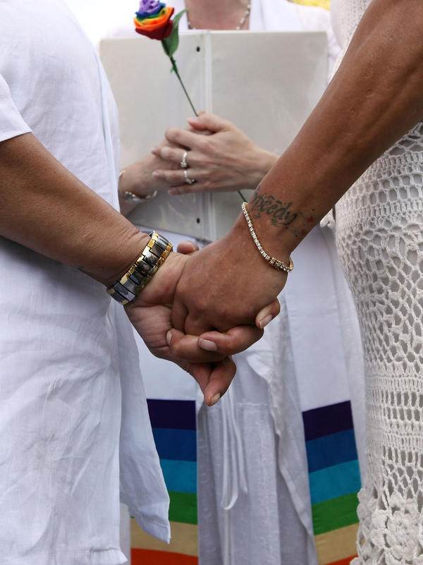 English-language experts say how gay couples refer to themselves, and how others refer to same-sex couples, continues to evolve.