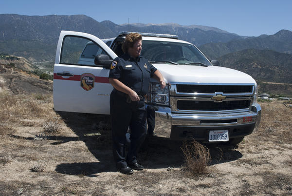 Julie Hutchinson, a battalion chief with California's firefighting corps, Cal Fire, says she's seeing fire activity usually not seen before late summer.