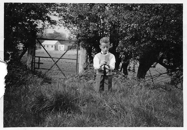 Bobbie Hanvey as an altar boy.