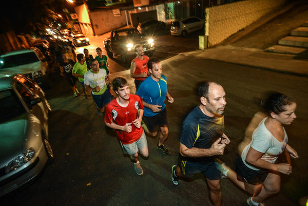 Some participants run for a mile, while some run for up to six miles.
