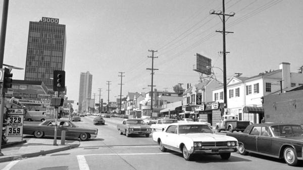 <em>Little Green</em> opens in 1967 and follows Easy Rawlins' search for a young man who disappeared after visiting the Sunset Strip, seen here in 1966.