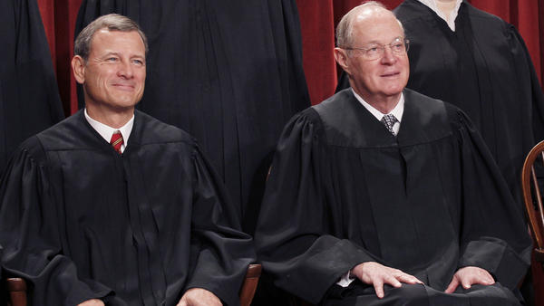 Chief Justice John G. Roberts (left) and Associate Justice Anthony M. Kennedy.