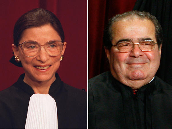 Justices Ruth Bader Ginsburg and Antonin Scalia have been friends for decades, but they're known for their differences in constitutional interpretation.