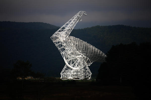 The Green Bank telescope is the largest fully steerable radio telescope in the world.