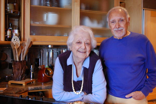 Marcella and Victor Hazan in the kitchen of their home in Longboat Key, Fla.