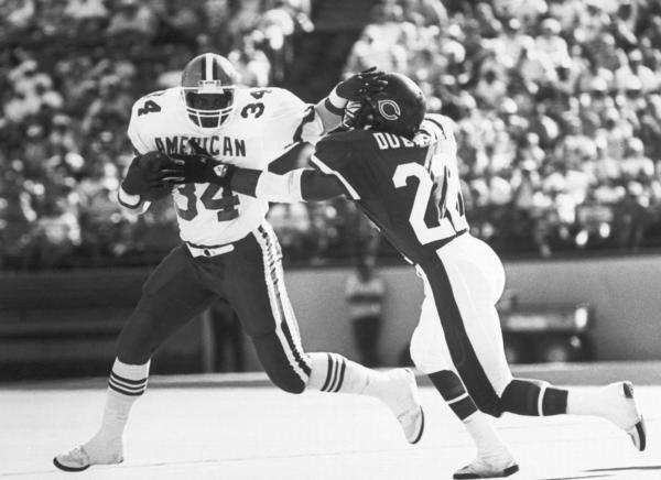 "Dave Duerson (right), in 1988. Duerson committed suicide in 2011 and wrote a note that included this request: ""Please see that my brain is given to the NFL's brain bank."""