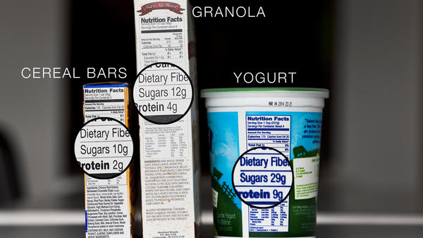 Even seemingly healthful foods can contain unexpected spoonfuls of sugar.