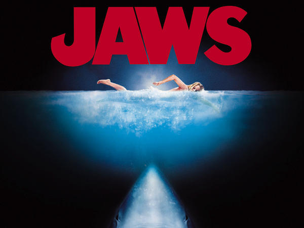 A promotional image for <em>Jaws</em>.