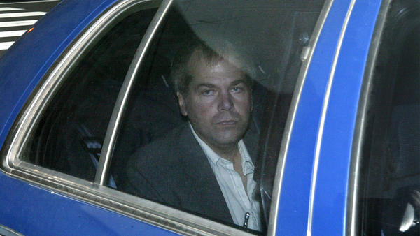 John Hinckley Jr. arrives at U.S. District Court in Washington, D.C., in 2003 to seek five-day, unsupervised visits with his parents at their home in Virginia. His current hearing is the seventh time a court has weighed gradually opening the door to Hinckley's freedom.