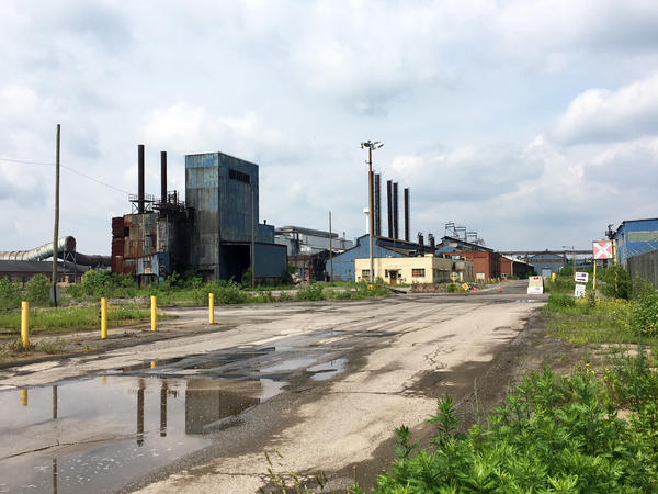 A shuttered steel mill in the once-booming steel town of Warren, Ohio. The town's economy has been decimated by closed factories and job losses over the past two decades.