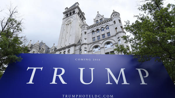 The new Trump hotel in Washington, D.C., is being built in the historic Old Post Office Pavilion a few blocks from the White House.