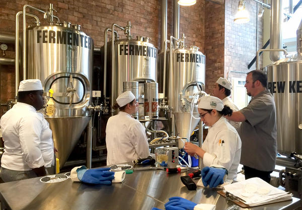 The new brewery at Culinary Institute of America in Hyde Park, N.Y. The school now teaches the art and science of brewing, an elective course.