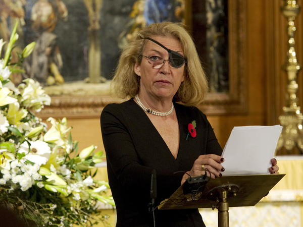Marie Colvin, shown here in London in November 2010, was killed in Homs, Syria, on Feb. 22, 2012, along with photographer Remi Ochlik. She lost her left eye after being hit by shrapnel while covering the civil war in Sri Lanka in 2001.
