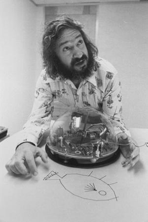 "Seymour Papert invented this small mobile robot, called the ""<a href=""https://en.wikipedia.org/wiki/Turtle_(robot)"">Logo Turtle</a>,"" for children's play and problem-solving."