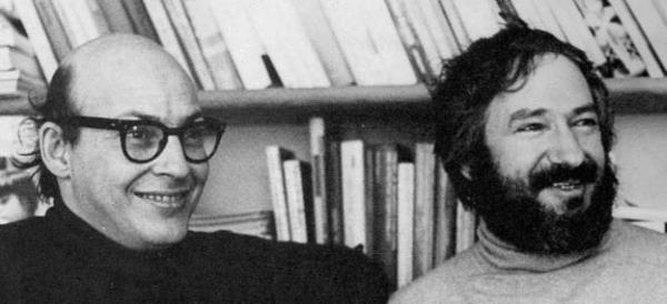 Marvin Minsky (left) and Seymour Papert (right) in 1971.