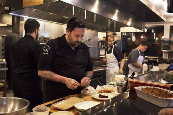Chef Mike Isabella creates alternatives to traditional Thanksgiving dishes at Kapnos restaurant in Washington, D.C.