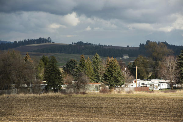 The Syringa Mobile Home Park, with views of Moscow Mountain, is located a few miles from downtown Moscow, Idaho.