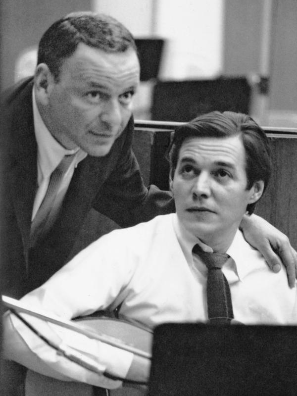 Frank Sinatra with Antonio Carlos Jobim in 1967.