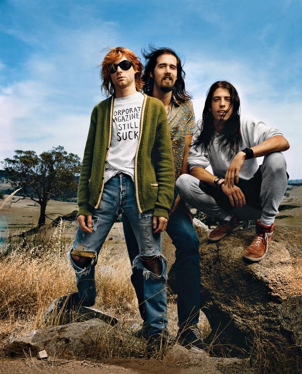 Nirvana, photographed for <em>Rolling Stone</em> in 1992.
