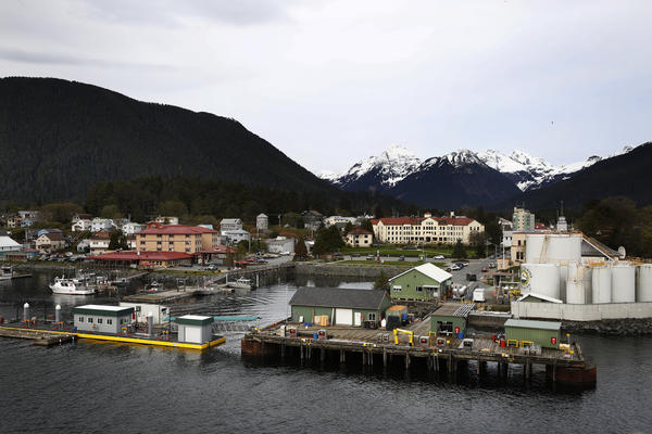 A view of downtown Sitka, Alaska.