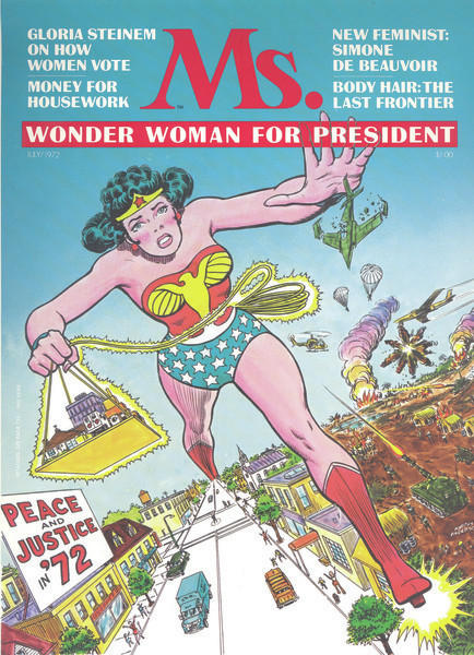 Many feminists of the 1970s, including Gloria Steinem, grew up reading Wonder Woman and considered her an inspiration. In 1972, <em>Ms.</em> magazine put her on the cover.