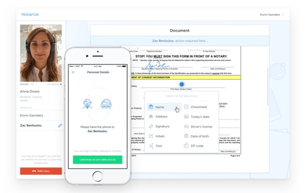 Notarize is one of the apps and websites that connect people to a notary who can notarize documents remotely.