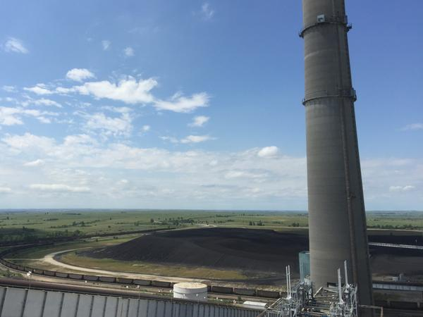 From the coal-view observation deck, visitors can see the train system, the coalfield and the flue-gas stacks.