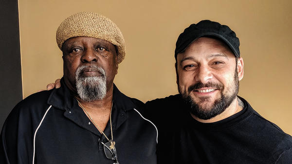 Johnny Holmes and Christian Picciolini during a recent visit to StoryCorps.