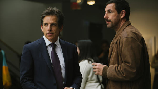 Ben Stiller and Adam Sandler are brothers in conflict in<em> </em><em>The Meyerowitz Stories (New and Selected).</em>