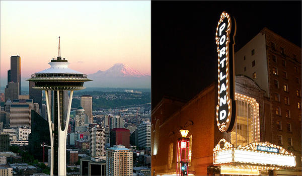 Which state fared better in a ranking of state economic climates -- Washington or Oregon?