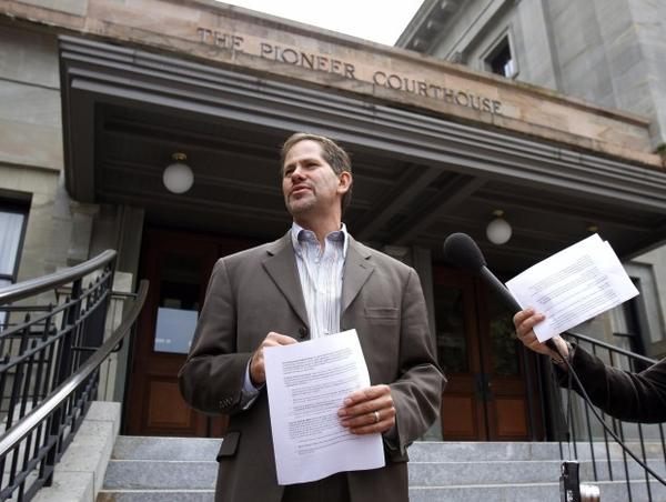 <p>In this Sept. 19, 2012, file photo, Knute Buehler, Republican candidate for Oregon secretary of state, speaks during a news conference in Portland.</p>