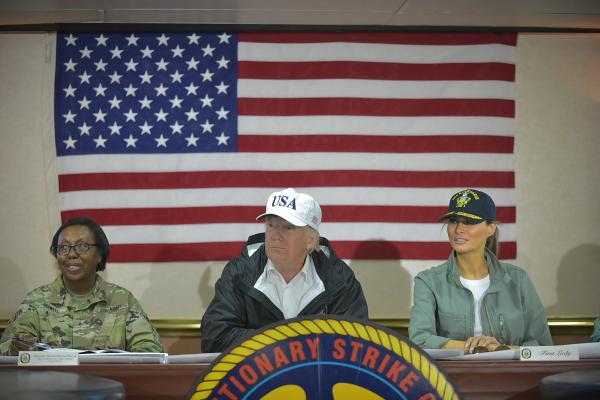 On Thursday, President Trump hinted at the possibility of limiting federal aid to Puerto Rico, where 3.4 million Americans have struggled to recover from a pair of devastating hurricanes.