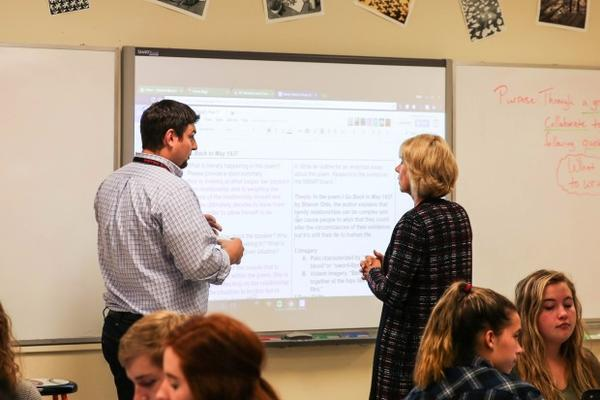 <p>U.S. Secretary of Education Betsy DeVos visits McMinnville High School in McMinnville, Oregon, Wednesday, Oct. 11, 2017.</p>