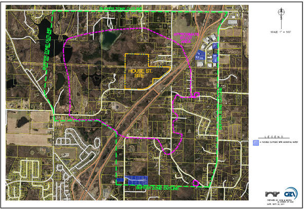 MDEQ image of the area affected by the groundwater contamination in Plainfield Township and Belmont, roughly 10 miles north of Grand Rapids.