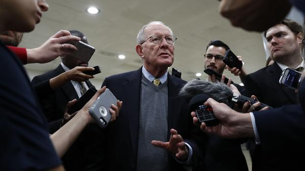 Sen. Lamar Alexander, R-Tenn., chairman of the Senate Health, Education, Labor, and Pensions Committee, talks to reporters on Capitol Hill Wednesday.