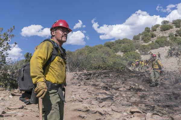 Josh Brolin stars as Eric Marsh, supervisor of a wilderness firefighting team, in the new film <em>Only The Brave.</em>
