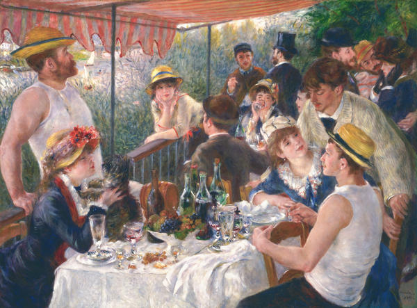 "Phillips Collection curator Eliza Rathbone says Renoir was ""at the height of his powers"" when in he painted<em> Luncheon of the Boating Party</em>."