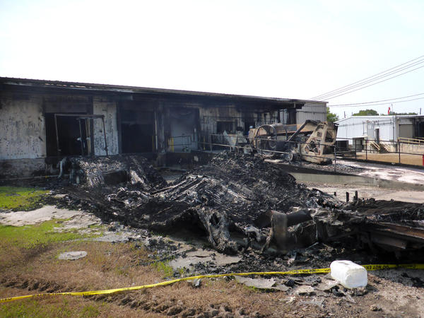 Refrigerated trailers burned after floods knocked out power to the Arkema chemical plant in Crosby, Texas, and the organic peroxides stored inside the trailer ignited. The U.S. Chemical Safety Board is investigating the blazes.