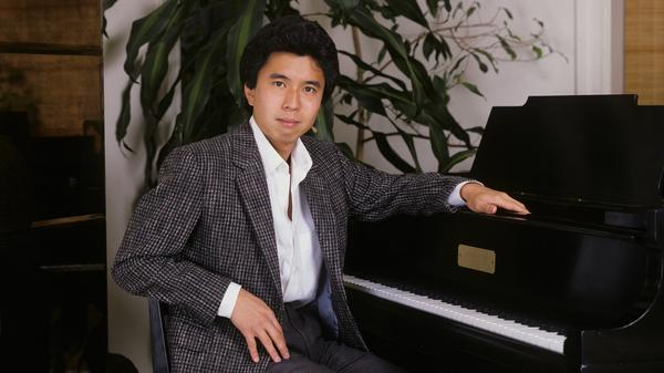 Japanese jazz pianist Makoto Ozone at an album photo shoot on February 1, 1986 in New York City.