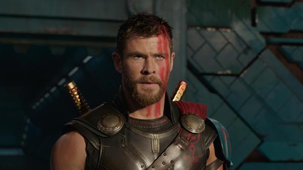 A Star is Shorn: Chris Hemsworth's God of Thunder gets a cosmic makeover in <em>Thor: Ragnarok</em>.